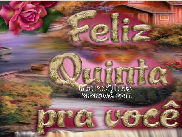 Feliz Quinta Feira O25